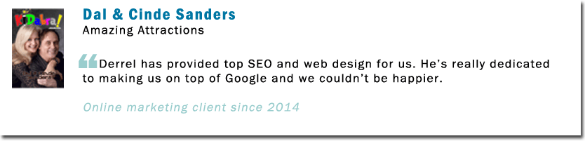 seo experts testimonial amazing attractions
