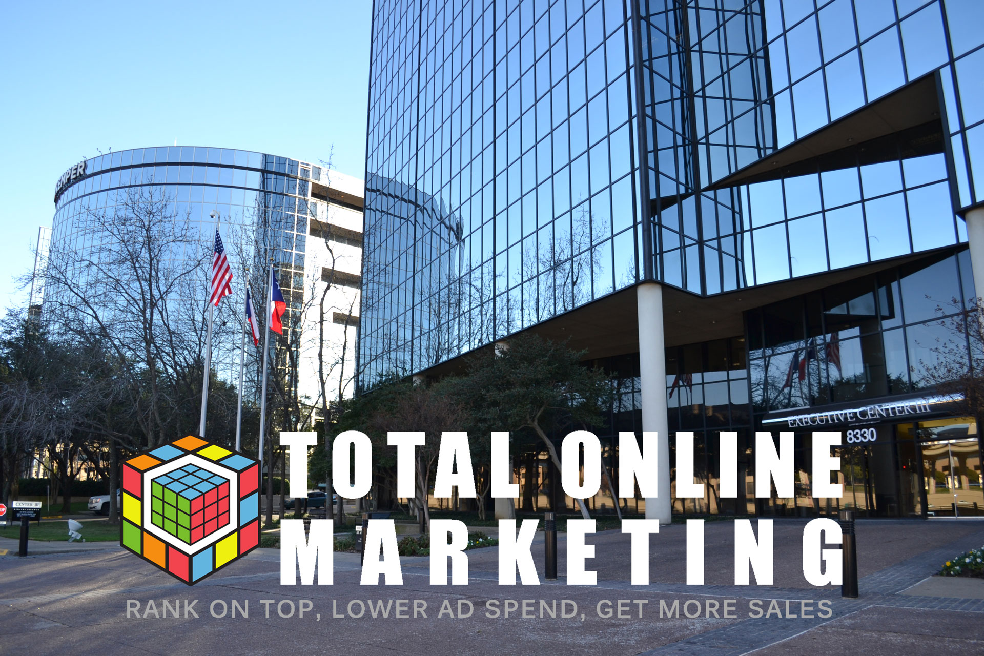 outside the Dallas office of seo experts Total Online Marketing